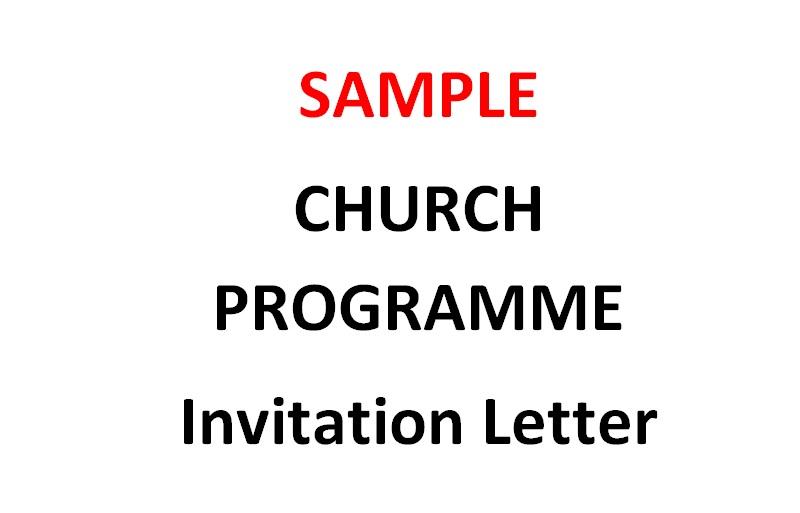 Church cover letter sample