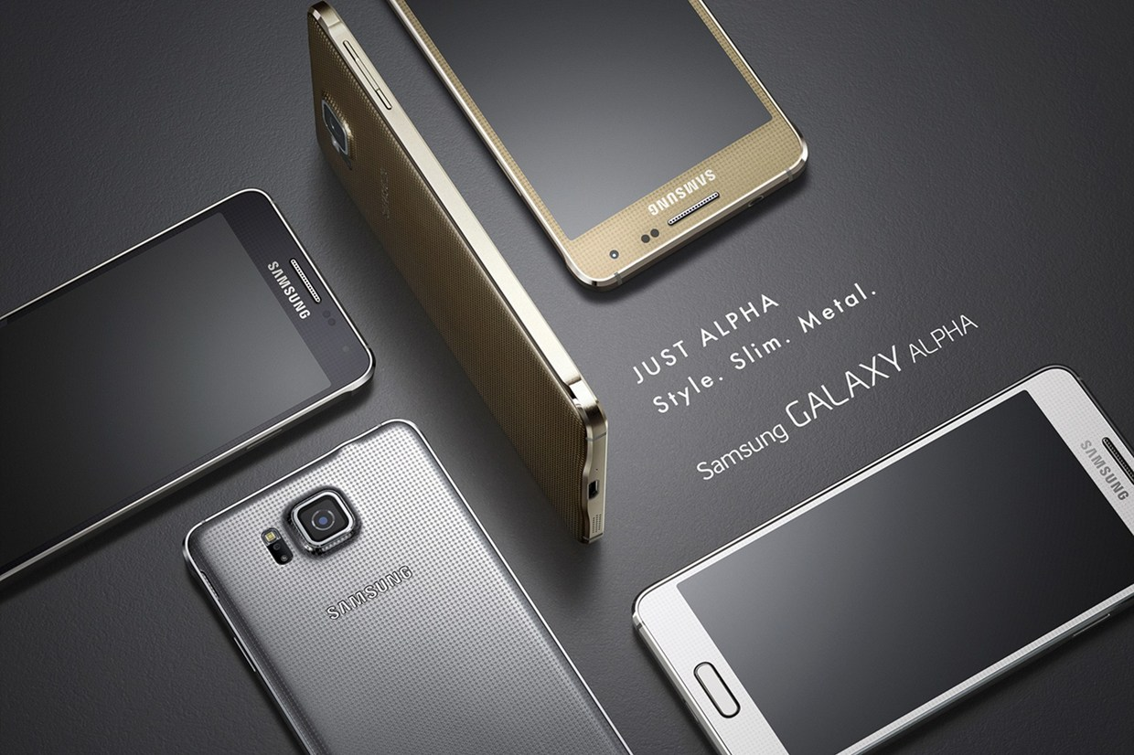 Samsung Galaxy Alpha with fresh metallic design