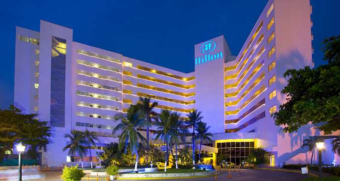 Hilton Hotel at Night