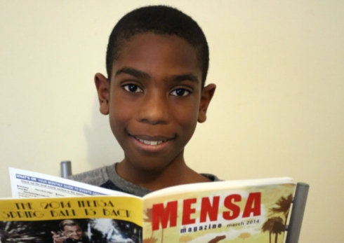 11-year-old boy with higher IQ than Einstein