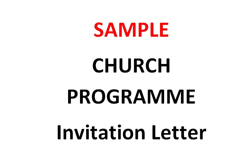 Sample invitation letter inviting a church to a worship event the sample church programme invitation letter christian mail stopboris Choice Image